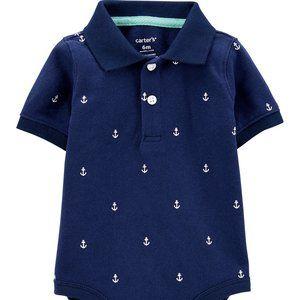 Carter's Anchor Sailor Polo Bodysuit Size 6 Months